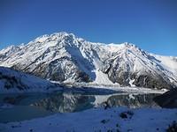 Mueller gletsjer lake