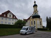 Kerkje waar Mozart speelde langs de Romantische strasse