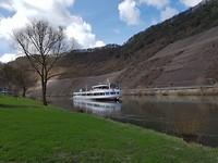 met de boot naar Cochem vanaf de camping