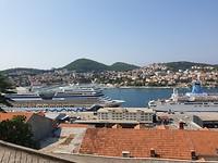 Cruise schepen net voor Dubrovnik