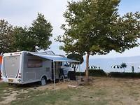 Zo aan het Ohrid meer op de camping in Albanie