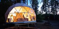 Voorbeeld van een dome als hotelkamer
