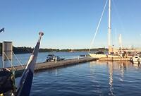 Zicht vanaf ligplaats Sandhamn