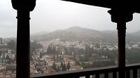 Alhambra uitzicht - regen