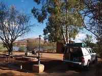 Laatste campingplekje Lake Oanab, Rehoboth