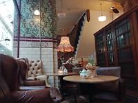 English Breakfast tea in een klein cafétje