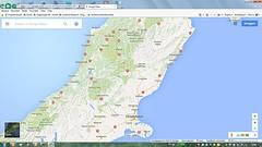 Kaart Christchurch-Greymouth