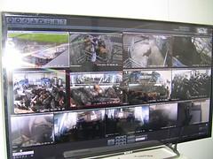 Camera overzicht op ondedelen bedrijf