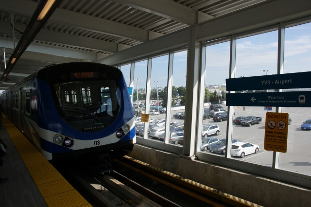 how to get to vancouver airport by skytrain