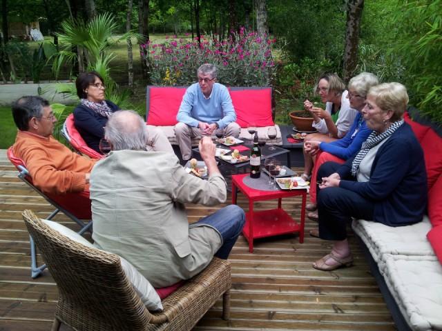 Carcens aperitief met eigenaars