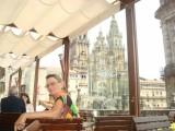 Santiago drankje in de Parador met view