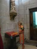 Santiago kathedraal kaars aansteken