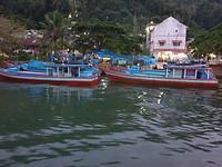 Vissersboten in Padang