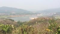 Uitzicht op de mekong rivier