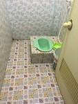 Badkamer in guesthouse. Helaas op deze route geen keuzen  in guesthouses