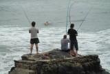 Vissers bij Warner Beach