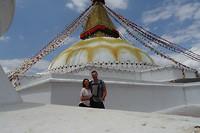 Bij Boudhanath stupa