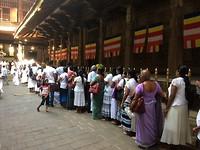 Een lange rij wachtenden voor hun medicijn.