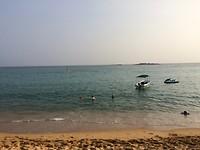 Het strand van Unawatuna.