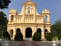 Katholieke kerk in Ngombo.