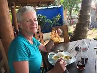 Fish curry aan het strand.