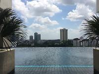 Zwembad op hoogte.