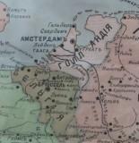 Midden Siberie. Museum in Barnaul. Kaart van Nederland 1914.