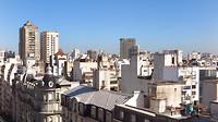 Uitzicht over Buenos Aires vanuit appartement