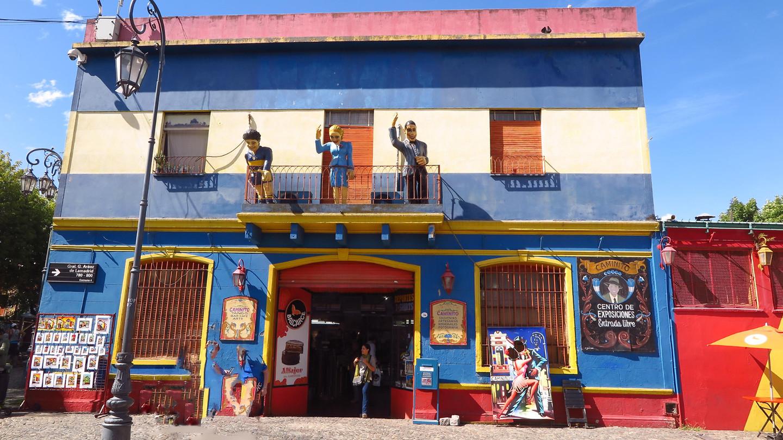 In de wijk Boca, vroeger een Italiaanse volkswijk