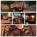 Diner met struisvogel uitzicht en vlees :-)