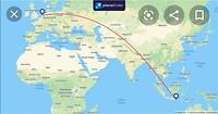 Route vlucht KL835