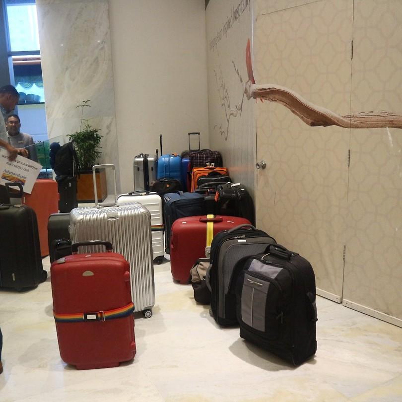 koffers staan klaar