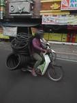 Alles op de scooter