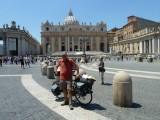 Vaticaanstad, eindpunt van mijn fietstocht naar Rome in 2011