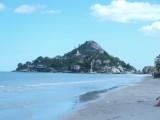 Het tempel eiland bij Hua hin