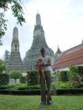 Met papa voor Wat Arun