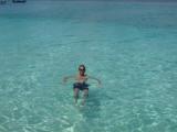 Hein in het water bij Bamboo Island