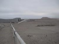 Toegangsweg naar de Huaca( tempel/ grafheuvel of graf/) del Sol- opgraving.