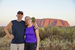 Samen op de foto bij Uluru