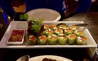 Marja's voorgerecht bij Pato Thai Cuisine - Thaise groentewraps