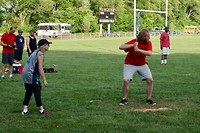 Klaar voor het slaan van een home run (2)