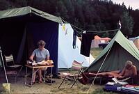 Op de camping aan de Keutschacher See - 1966?