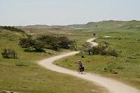 Marja over het mooie schelpenpad door de Pettemer duinen