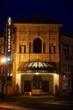 De mooie gevel van het Liberty Theatre