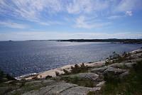 Uitzicht over het fjord bij Kristiansand