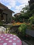 Tuin van onze gastheer en gastvrouw. Deze mochten ook gebruiken