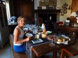 Het lekkere ontbijt met de zelfgemaakte taartjes
