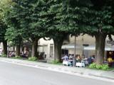 Lunch op het plein in Fiesole