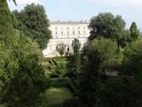 Begin van de tuin achter het Palazzo