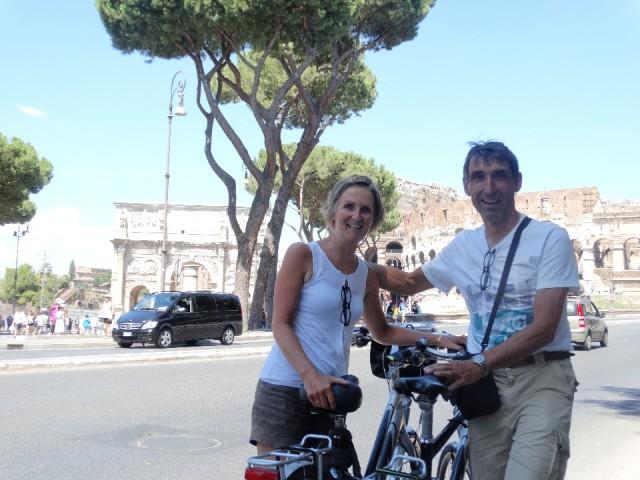 op de fiets door Rome